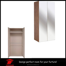 Bedroom furniture modern wooden mirror Luxury double color wardrobe design furniture bedroom