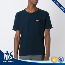 Guangzhou shandao factory o-neck short sleeve180g 65%cotton 35%polyester mens fashionable easy wear clothing