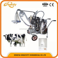 gasoline and electric removable cow milking machine