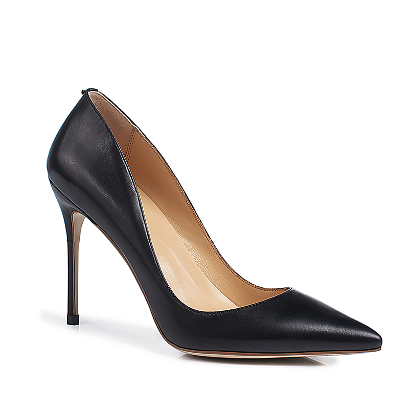 China Shoes Factory Supply High Quality Breathable Cow Leather Women High <strong>Heels</strong> Pointed Toe Stiletto <strong>Heel</strong> Ladies Office Shoes