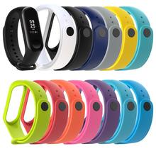 Wrist Strap For Xiaomi miband 3 wriststrap Mi Band 3 Strap Bracelet Wristband Straps Replacement Colorful Silicone