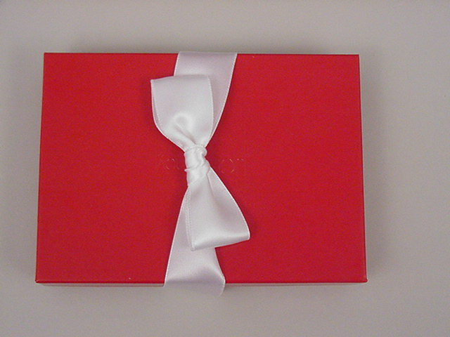 HOT SALE ! White Bow Tie With Elastic Band Satin Gift Box Pre Tied Bow
