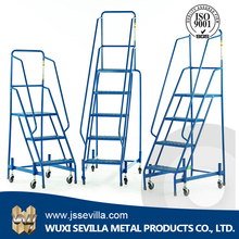 Warehouse Climbing Ladder Tool with Wheels
