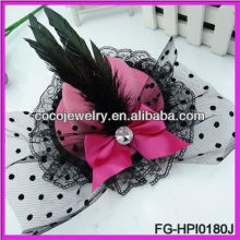 hair accessories big pageant crowns for sale feather veil bowknot mini top hat hair pin