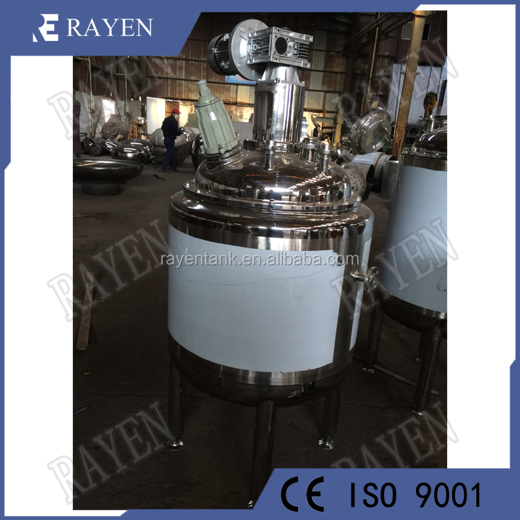 SUS304 or 316L electrically heated jacketed tank pressure vessel reactor