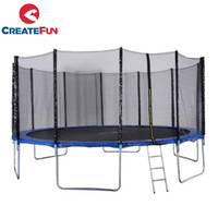 CreateFun TUV GS 6ft 8ft 10ft 12ft 13ft 14ft 15ft 16ft Jump Round Trampoline with safety net