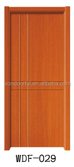 new design semi plain solid wooden door
