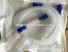 Disposable adult medical extendable ventilator breathing circuit collapsible plastic tube with double water traps
