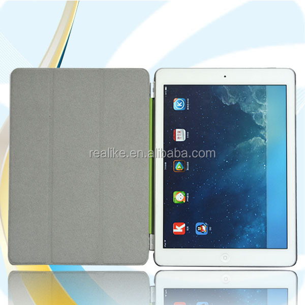 Book style new style leather for ipad air 5 squares leather case