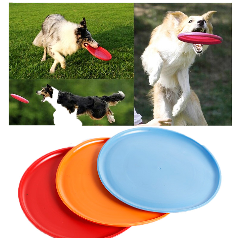Large Dog Frisbee Silicone Flying Disc Tooth Bite Resistant Outdoor Dog Training Pet's Toy