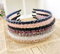 Colorful Crystal beads hairband metal headband
