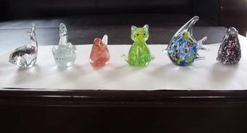animals made of glass
