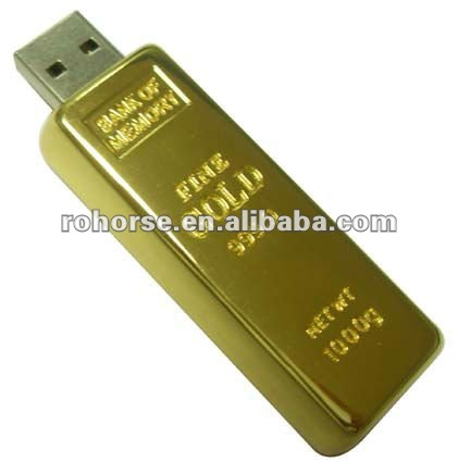 4GB Novelty Stunning Gold Bar USB Flash Pen Drive Memory Stick,android wifi usb stick