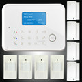 Smart gsm wireless alarm system with door open alert on the panel display and backup rechargeable battery for 8 hours