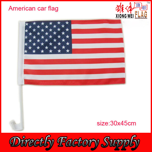 USA car vehicle-mounted flag connect or stick onto the windows