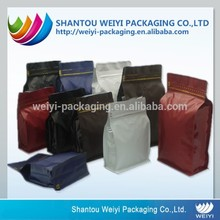 Safety food grade cake packaging stand up plastic zip lock bag