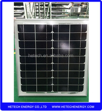 Mono crystalline 25W PV Modules High Quality Solar Panels with Black/ Sliver Alum. Frame