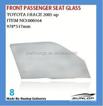 toyota hiace front passenger seat glass for KDH 200 commuter van