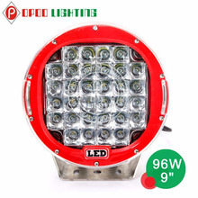 Wholesale round 96w led driving lights, 9inch led driving light for trucks 4wd car accessories