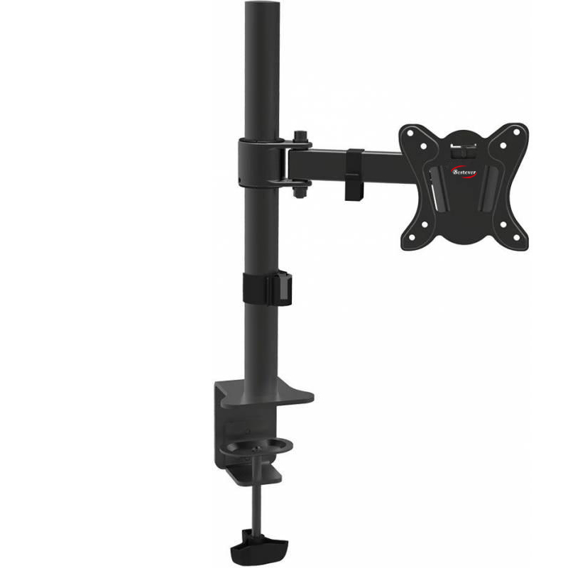 "Single Monitor Desk Mount Adjustable Articulating Stand /For 1 LCD Screen up to 27"" VESA Mount (75 X 75 & 100 X 100 )"