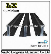 Industrial extruded aluminum profiles with customized surface treatments and alloy grade
