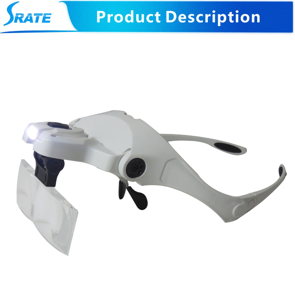 Loupe binoculaire Headband Magnifying magnifier Lens Glasses microscope with led lights loupe lupas de aumento third hand