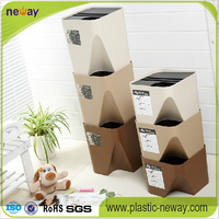 High quality stackable rubbish kitchen bin