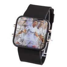 New products 2014 fashion led silicone football star watch