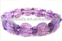 gemstone amethyst fashion bracelet