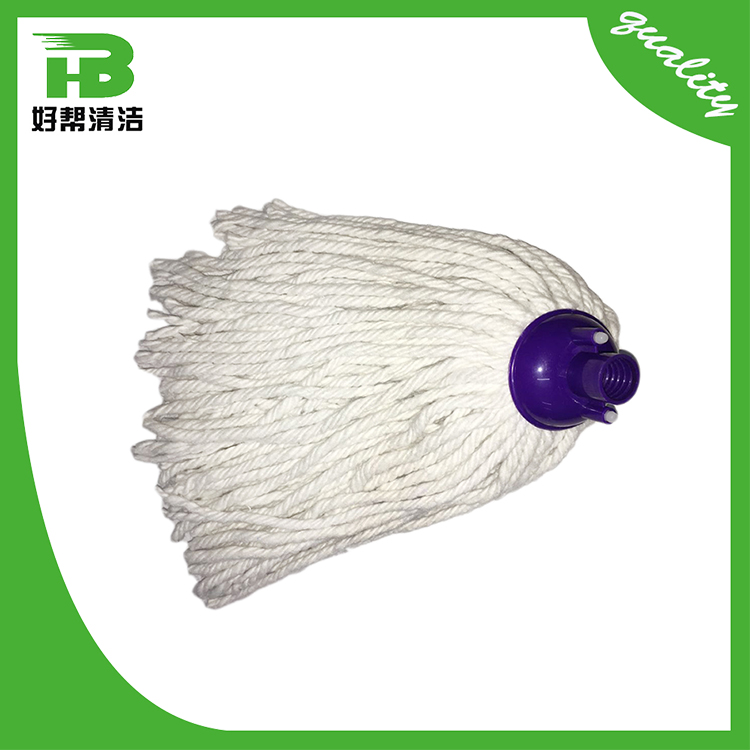 Factory supply chunky water uptake rotate 30% poly 70% cotton mop head