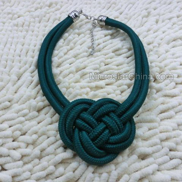 Chinese Knot Knit Handmade Rope Necklace