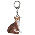 customized plastic animal Key Ring Female Cat Pet Animal Kids Toy Figurine Accessory Gift