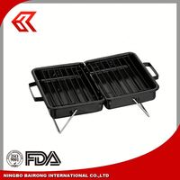Camping smoke free korean STEEL rotary charcoal bbq grill
