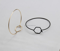 A New Simple Copper Casting Geometry Fashion Bracelet