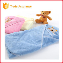 for baby velvet material quilt hooded towel cloth