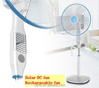 cheap price rechargeable solar operated fan DC 12V solar operated fan with led light