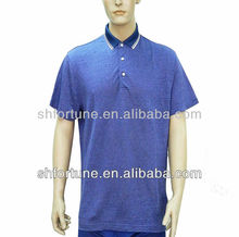 2013 fashion style polo shirt for men--- hemp and silk blended fabric T-shirt
