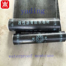Chinese famous brand cheap 2/3/4mm SBS bitumen waterproof membrane, roll building roof asphalt material / aluminum foil sheet
