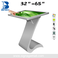 55 inch free standing android and win system oem all in one pc touchscreen