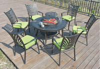 Derong Leisure garden charcoal outdoor bbq grill table set / bbq table outdoor