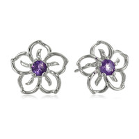 Wholesale!! Best Selling Fashion Flower Earring, 925 Sterling Silver Earring, Unique Gift Earrings MoonSo KE2507S