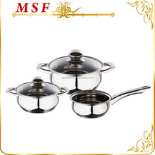 South Africa wholesale low price stainless steel 5pcs kitchen accessory with capsulated induction bottom