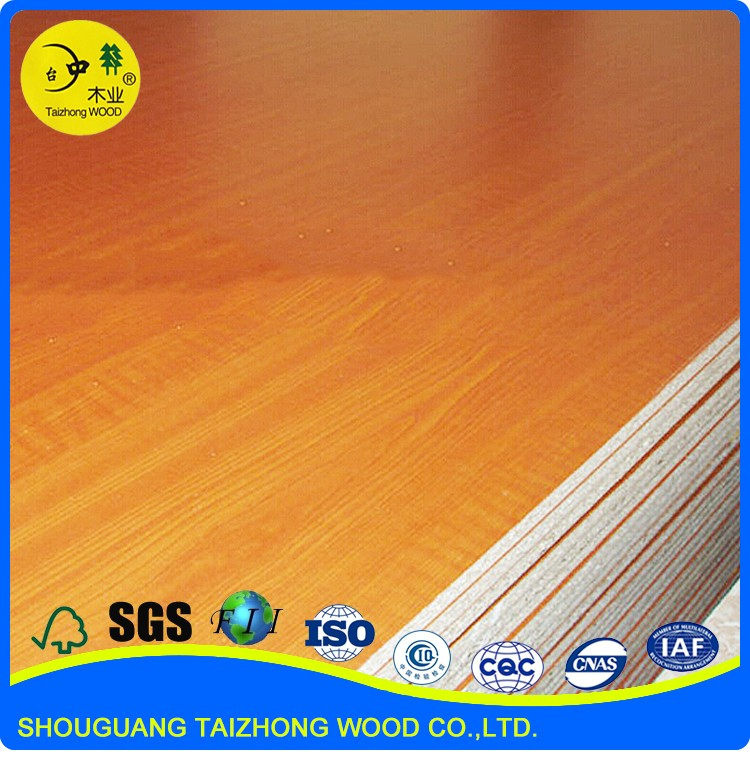OEM service cherry 25MM melamine particle board