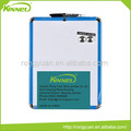 Black pen blue plastic frame board magnetic whiteboard