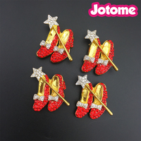 Wholesale Crystal Ruby Slippers Red Shoes