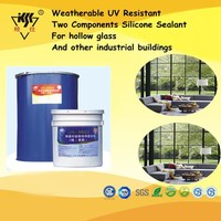 Weatherable UV Resistant Two Components Silicone Sealant For Hollow Glass And Other Industrial Buildings