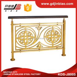 Luxury Gold Aluminum Interior Stair Railing / Stair Handrail