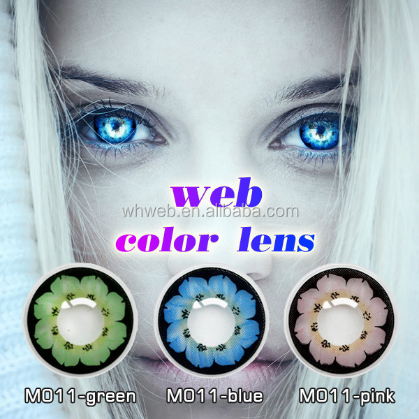 Cheap color beauty cosmetics contacts with various color contact lens
