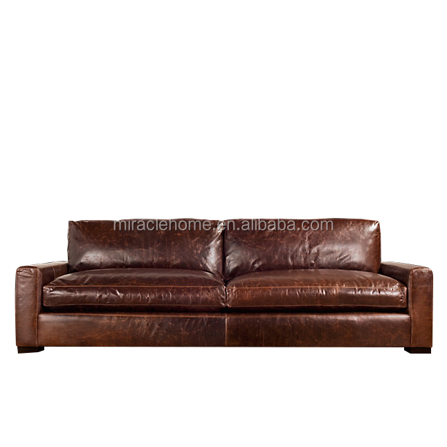 French style maxwell classic leather sofa