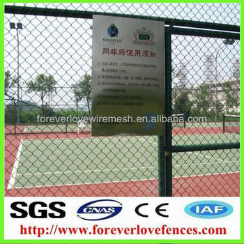 tennis court chain link wire netting(factory, China)